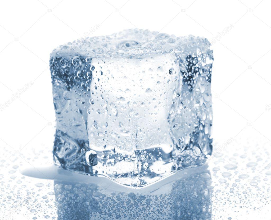 Ice cube with wa  Single Ice Cube