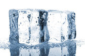 Pair of blue ice cubes — Stock Photo