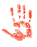 červená ruka tisk — Stock fotografie