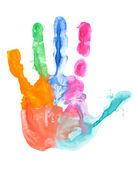 Tisk barevný ruka — Stock fotografie