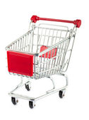 Single empty shopping cart — Stock Photo