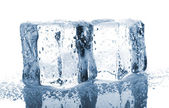Two ice cubes with water drops — Stock Photo