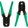 Network cable crimper - Stock Photo
