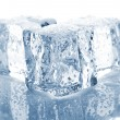 Three melting ice cubes — Stockfoto