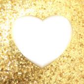 ハートの形でゴールド フレーム。eps 8 — ストックベクタ