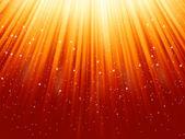 Sneeuwvlokken sterren aflopend pad van licht. eps 8 — Stockvector
