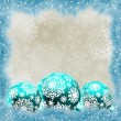Christmas card with balls. EPS 8 — Stock vektor