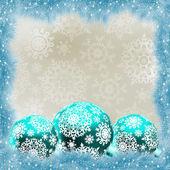 Tarjeta de navidad con bolas. eps 8 — Vector de stock