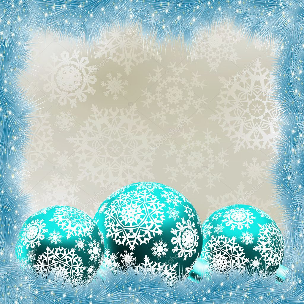 Christmas card with balls. EPS 8 vector file included  Stock Vector #10135230