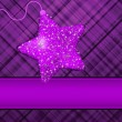 Christmas stars on purple background. EPS 8 — Stock Vector