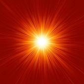 Snowflakes descending on golden light. EPS 8 — Stock Vector