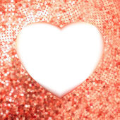 Marco dorado rosa en forma de corazón. eps 8 — Vector de stock