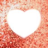 Roze goud frame in de vorm van hart. eps 8 — Stockvector
