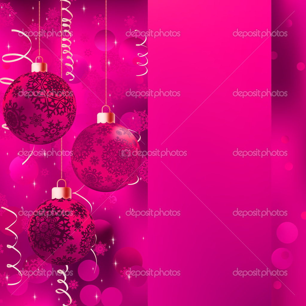 Background with stars and Christmas balls. EPS 8 vector file included  — Stock vektor #10368597