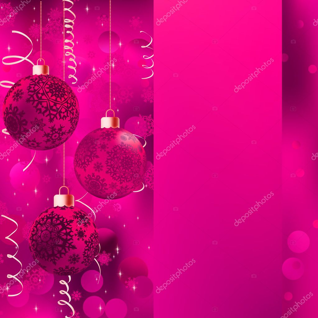 Background with stars and Christmas balls. EPS 8 vector file included  — Image vectorielle #10368597