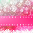 Pink christmas with christmas snowflake. EPS 8 — Stock Vector