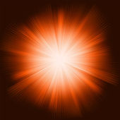 Orange light burst with sparkling stars. EPS 8 — Stockvector