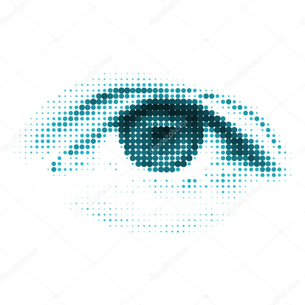 Abstract human - digital - eye. EPS 8 vector file included — Stock Vector #10451498