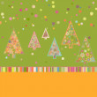 Retro Christmas Card Template. EPS 8 — Image vectorielle