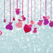 Stockvector : Valentines Day Background. EPS 8