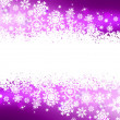 Stock Vector: Purple winter background