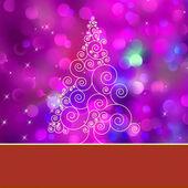 ツリーとクリスマス ツリー カード。eps 8 — ストックベクタ