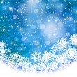 Abstract blue vector winter background with snowflakes. EPS 8 vector file included — Imagens vectoriais em stock