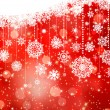 Christmas background with snowflakes on red. EPS 8 — Stok Vektör