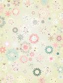 Retro Snowflakes card background. EPS 8 — Stock Vector