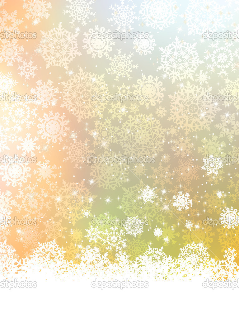 Beige christmas background with christmas snowflake. EPS 8 vector file included  — Stock Vector #8080518