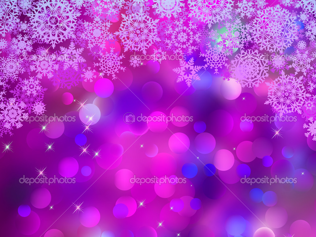 Purple background with snowflakes. EPS 8 vector file included  Stock Vector #8083377
