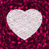 Marco en forma de corazón de púrpura. eps 8 — Vector de stock