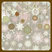 Retro Christmas Ornaments. EPS 8 — Stock Vector