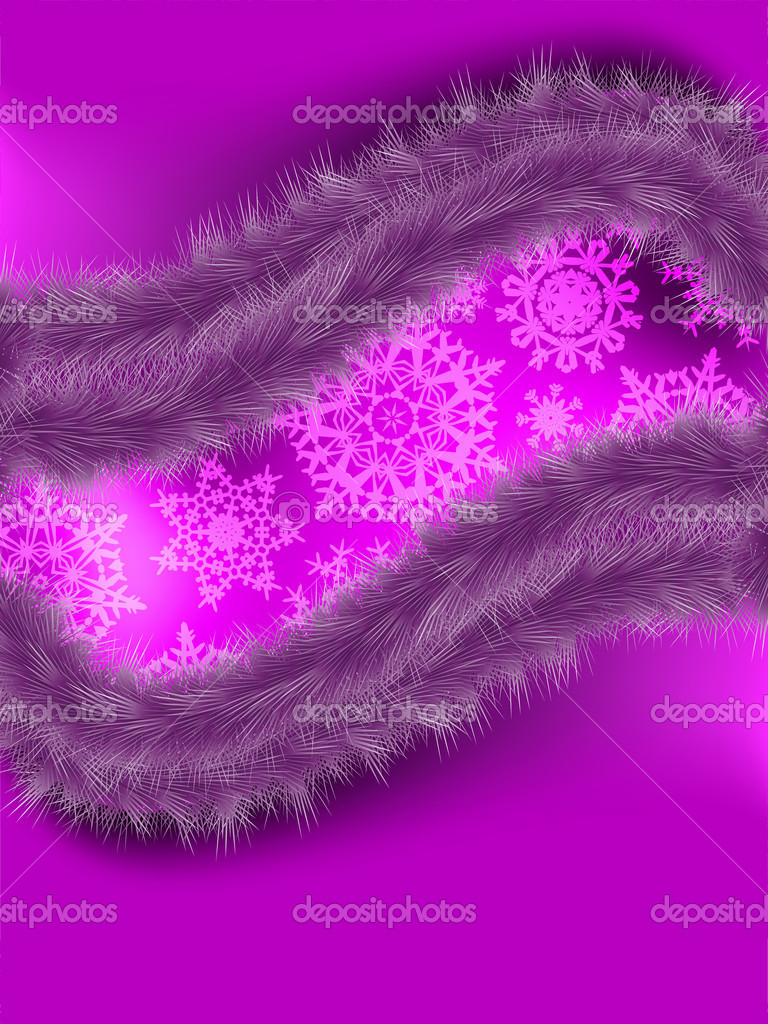 Christmas card with snowflakes abstract background. EPS 8 vector file included — Stock Vector #8174358