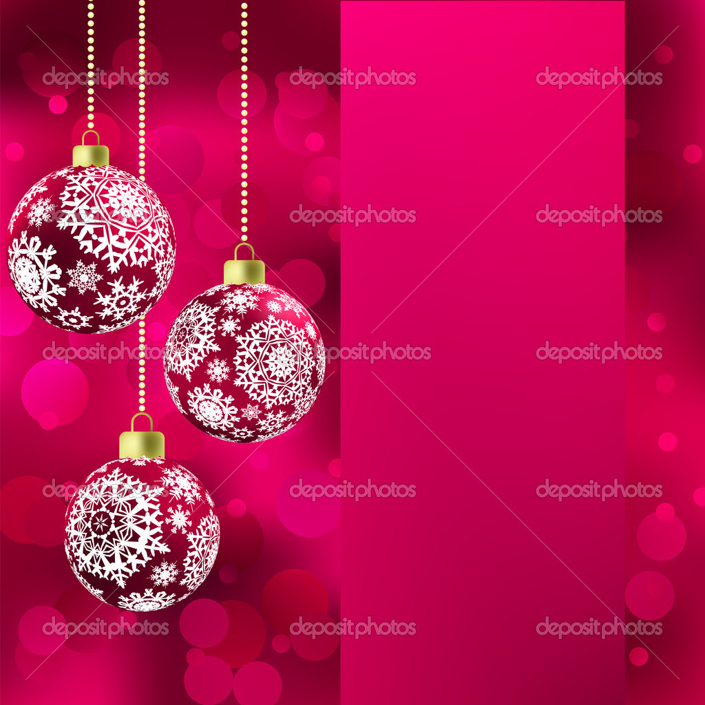 Background with stars and Christmas balls. EPS 8 vector file included — Stock Vector #8174615
