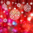 Royalty-Free Stock Vector Image: Card with christmas balls. EPS 8