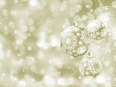 Elegant Christmas balls on abstract . EPS 8 — Stock Vector