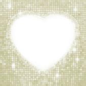 バレンタインの日のモザイク ハートのカード。eps 8 — ストックベクタ