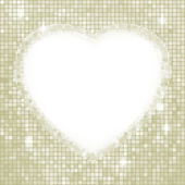 Valentinstags-tag-mosaik-herz-karte. eps 8 — Stockvektor