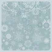 Christmas origami snowflake background. EPS 8 — Stock Vector