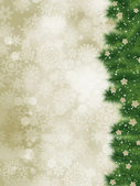 Dankeschön-karte auf eine elegante weihnachtskarte. eps 8 — Stockvektor