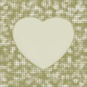 Elegant mosaic glowing heart background. EPS 8 — Stock Vector