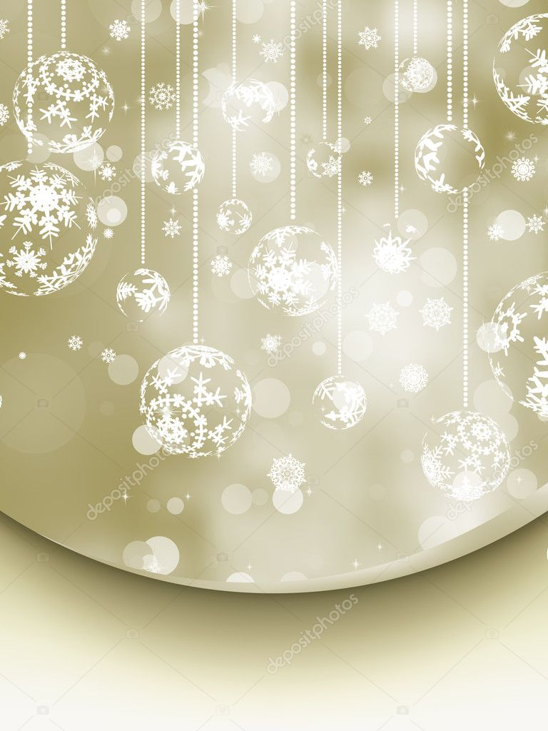 Elegant Christmas Background. EPS 8 vector file included — Stock Vector #8296224