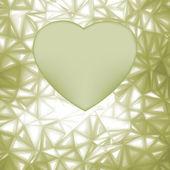 Cornice cuore elegante con spazio per concetto. eps 8 — Vettoriale Stock