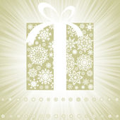 Elegant burst with gift box. EPS 8 — Stock Vector