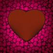 Red Valentine's day background with hearts. EPS 8 — Stok Vektör