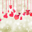 Valentine background of holiday lights. EPS 8 — Stock Vector