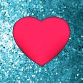 Heart on glitter light Valentine's day. EPS 8 — Stock Vector