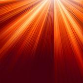 Rode lichtgevende stralen. eps 8 — Stockvector