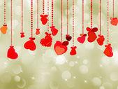 Valentine's day postcard template. EPS 8 — Wektor stockowy